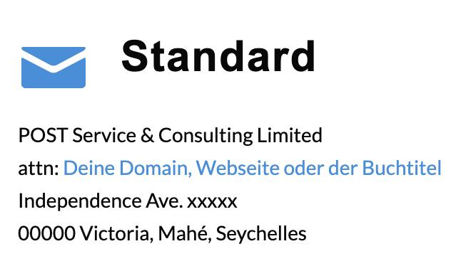 standard adresse