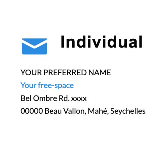 Individual address at post.sc