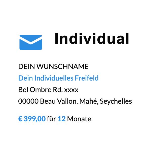 Individual Adresse bei post.sc