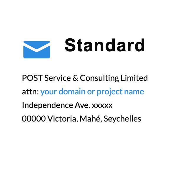 Standard address at post.sc